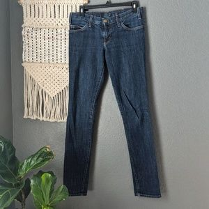 Current/Elliott The Skinny Dark Wash Jeans